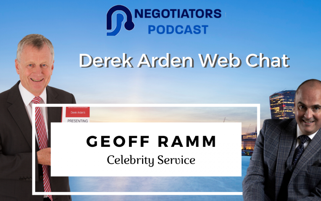 Celebrity Service – Derek Arden Web Chat With Geoff Ramm