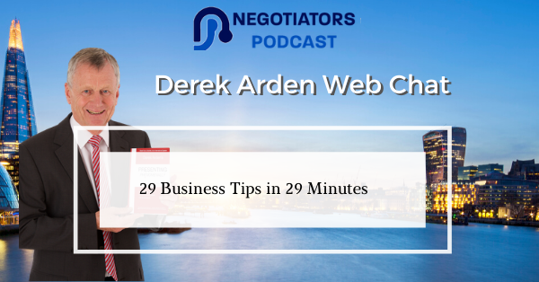 Derek Web Chat 29 Business Tips