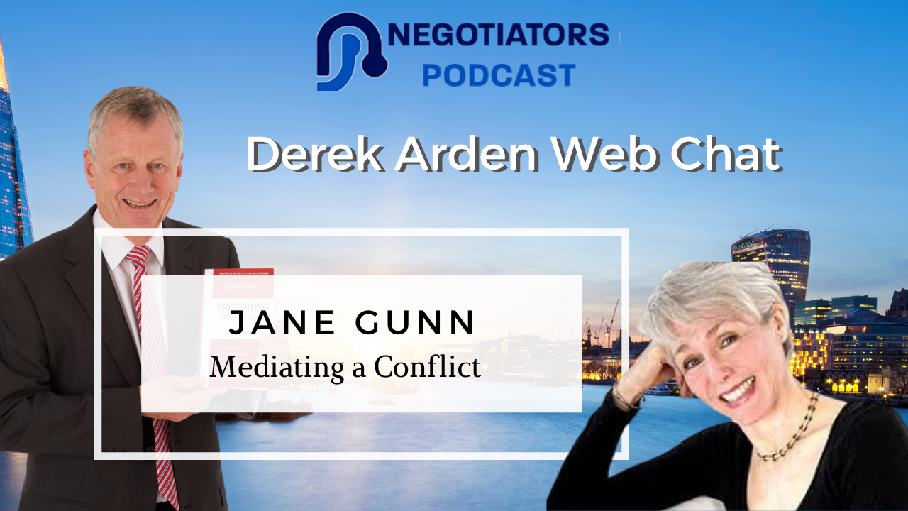 Jane Gunn and Derek Arden web chat about Mediating
