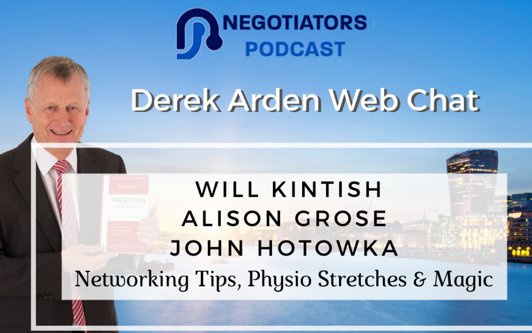 Will Kintish, Alison Grose and John Hotowaka web chat with Derek Arden