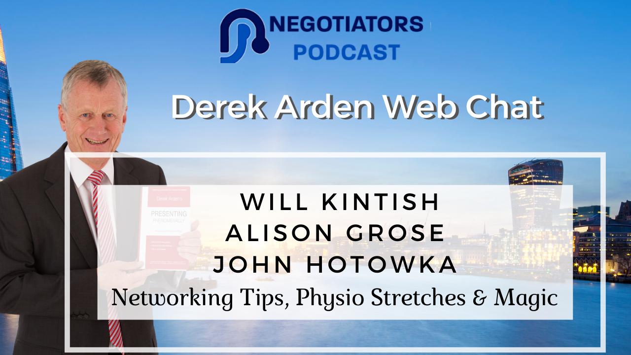 Will Kintish, Alison Grose and John Hotowaka web chat with Derek Arden