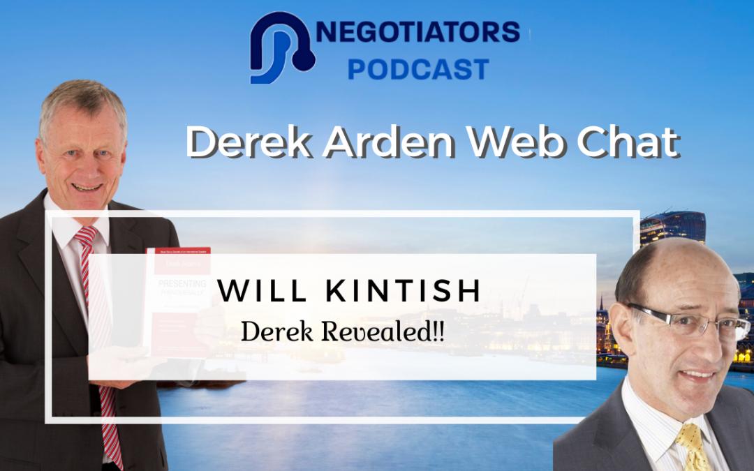 Web Chat – Derek Arden Interviewed by Will Kintish