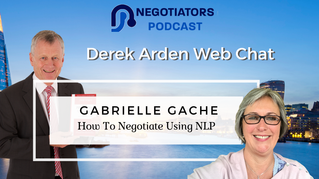 Derek Arden and Gabrielle Gache duscuss NLP use in Negotiations