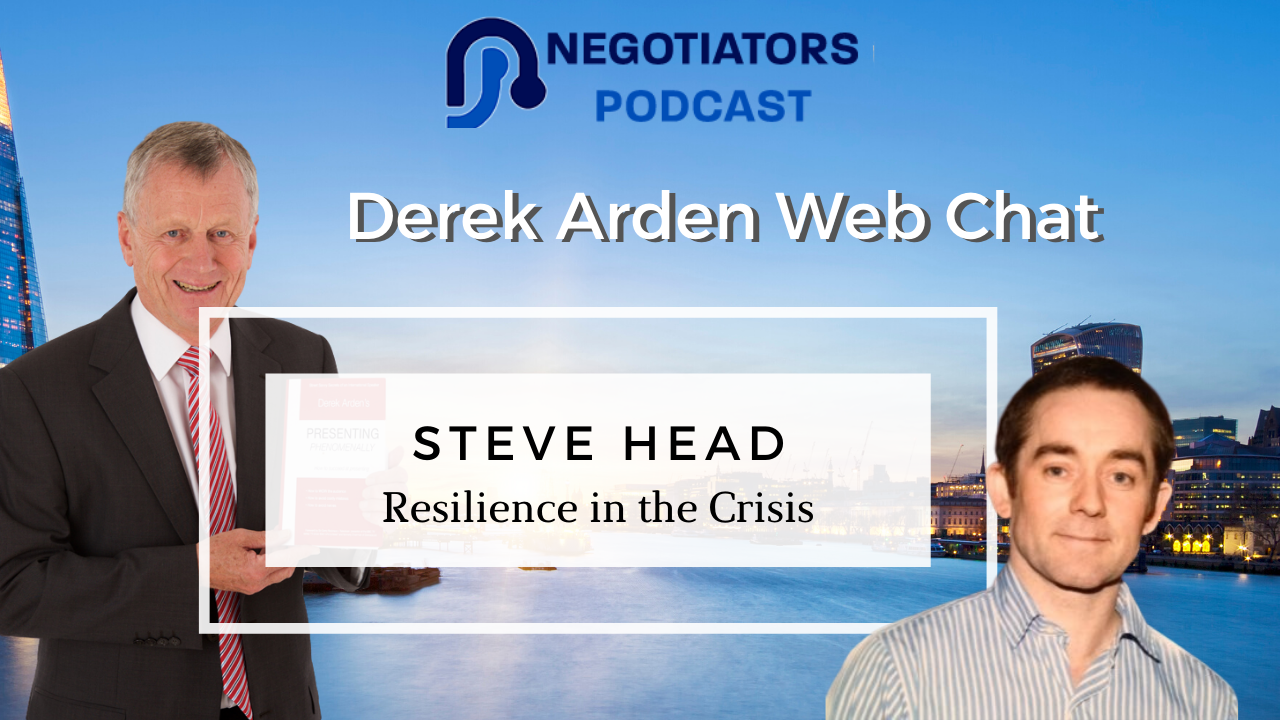 Derek Arden with Steve Head Resilience in Business