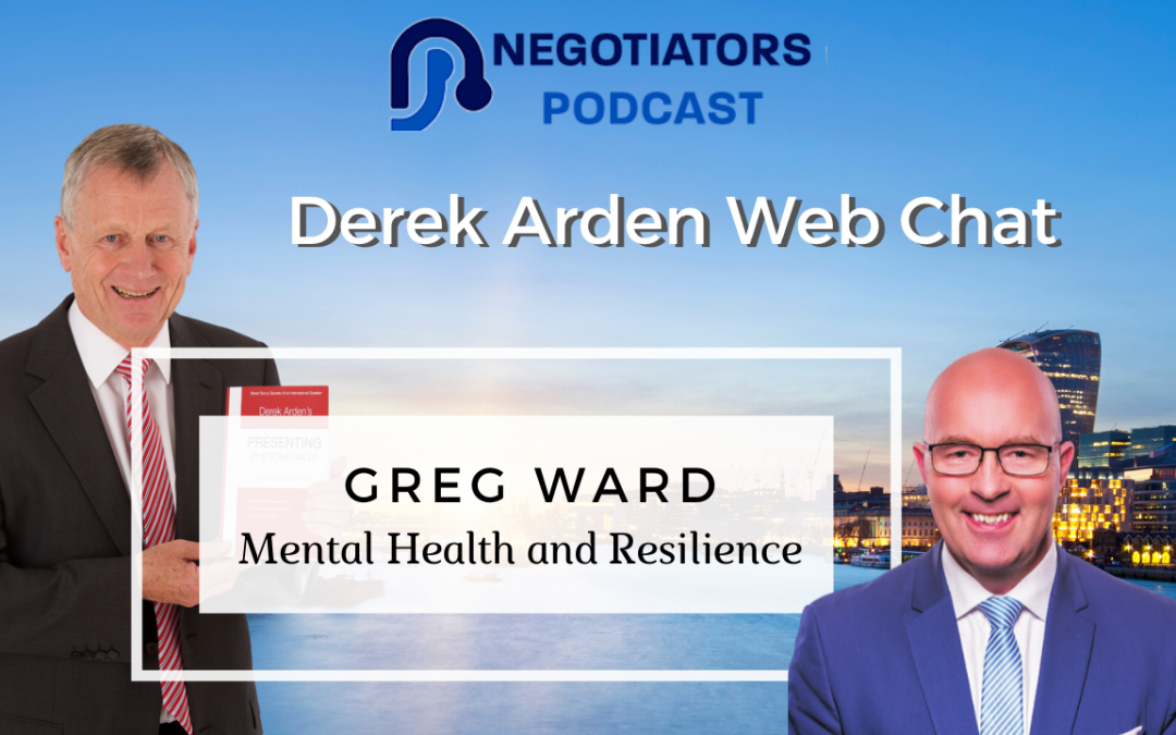 Greg Ward with Derek Arden Mental Health