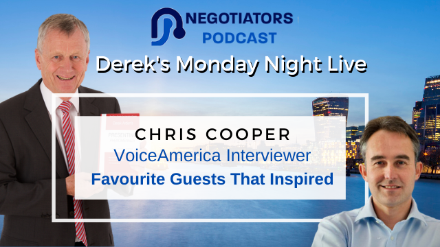 VoiceAmerica Interviewer – Favourite Guests That Inspired Chris Cooper