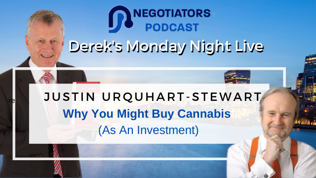 cannabis investment Derek Arden interviews Justin Urquhart-Steward