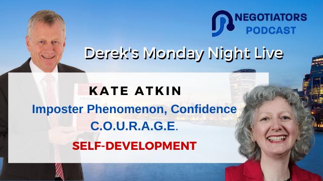 Imposter Phenomenon, Confidence C.O.U.R.A.G.E. Kate Atkin with Derek Arden